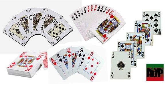 Las barajas de cartas de poker formatos y calidades