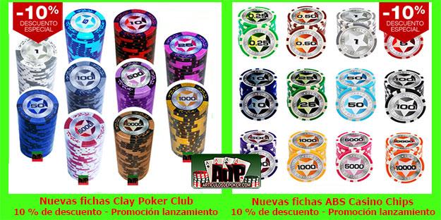 Nuevas fichas de poker oferta