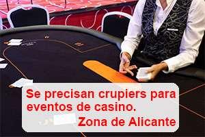Crupiers para eventos de casino