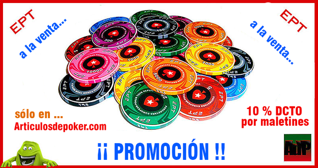 Fichas de poker EPT de cerámica